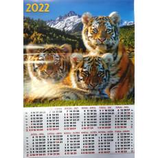 Календарь-плакат символ года (УКР) на 2022 год AK22-Sg-03y