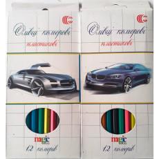"""Карандаши цветные 12 шт. для мальчиков """"Magic color"""" CR-555-12m"""