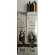 """Карандаши цветные 6 шт. для девочек """"Magic color"""" CR-555-6m"""