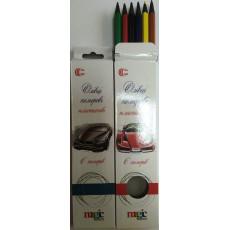 """Карандаши цветные 6 шт. для мальчиков """"Magic color"""" CR-555-6m"""
