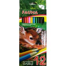 """Карандаши цветные 12 шт. Economix """"Fauna"""" Ec-Fauna-12"""