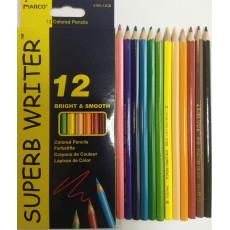 "Карандаши цветные 12 шт. ""Super Writer"" Marco-4100-12"