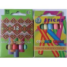 Набор цветного мела. 12 штук. KI-825510