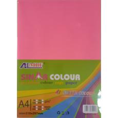 "Набор цветной бумаги ""флюорисцентная"" формата А4 100 листов микс 5 цветов KI-1001"