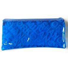 Пенал - косметичка силиконовый (Буквы) синий Ki-sk-3