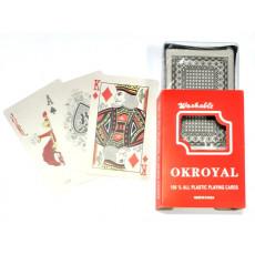 Набор пластиковых игральных карт 54 шт. OKROYAL-54