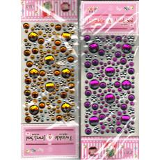 Наклейки камни (разные). НАБОР микс - 2 пачки разных цветов. NAK-02