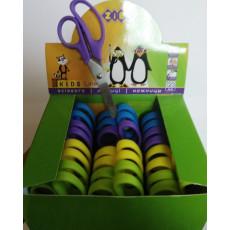Ножницы детские пластиковые 12.3 см. ZIBI-5000