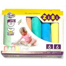 Набор цветного мела. 6 цветов. 6 штук. Zibi-6710
