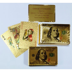 """Набор пластиковых подарочных игральных карт 54 шт """"Доллар"""". ki-dollar"""