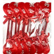 """Ручка шариковая """"мягкое сердце"""" (красное) 14-Ki-455-4"""