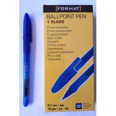 Ручка шариковая масляная синяя 1Klass-17148-02F