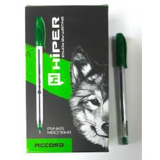Ручка масляная зеленая ACCORD Hiper-500-0.7gr