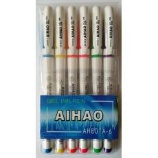 Набор гелевых разноцветных ручек на 6 цветов AH-801A-6