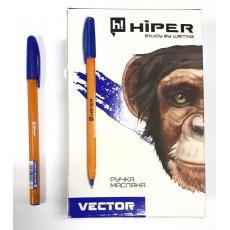 Ручка масляная синяя VECTOR Hiper-600-0.7bl
