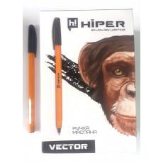 Ручка масляная черная VECTOR Hiper-600-0.7
