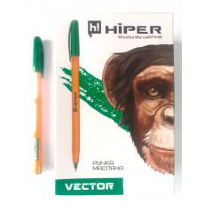 Ручка масляная зеленая VECTOR Hiper-600-0.7gr
