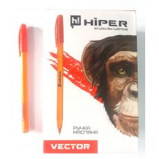 Ручка масляная красная VECTOR Hiper-600-0.7r