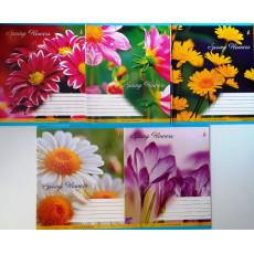 """Тетрадь на 12 л. Линия. """"Spring Flower"""" 1 вересня (YES) 1B-676154"""