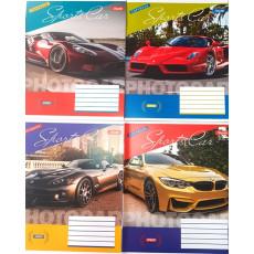 """Тетрадь на 12 л. Клетка. """"Sport Car"""" 1 вересня (YES) 1B-763346"""