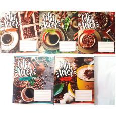 """Тетрадь на 48 л. Клетка. """"Coffee lover"""" 1 вересня (YES) 1B-763606"""