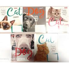 """Тетрадь на 48 л. Линия. """"Cat Dog"""" 1 вересня (YES) 1B-764134"""