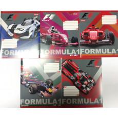 """Тетрадь на 18 л. Клетка. """"Formula1"""" 1 вересня (YES) 1B-764520"""
