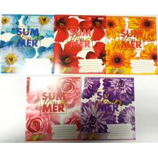 "Тетрадь на 18 л. Клетка. ""Sumer flower"" 1 вересня (YES) 1B-764539"