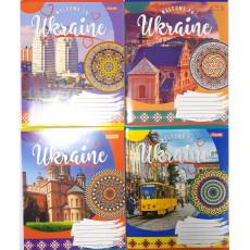 "Тетрадь на 96 л. Клетка. ""Ukraine"" 1 вересня (YES) 1B-764658"