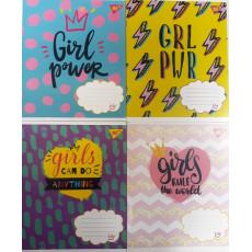 """Тетрадь на 12 л. Клетка. """"Girl Power"""" 1 вересня (YES) 1B-763436"""