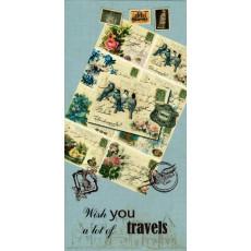 """Конверт """"Wish you a lot of travels!"""" AL-RL-04"""