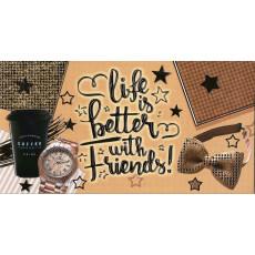 Конверт для денег (фольга) мужской «Life is better with Friends!» sp-12.5002