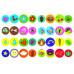 Перші розмальовки з кольоровим контуром для малюків. Комашки. 32 великі наліпки Kr-389-7