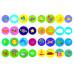 Перші розмальовки з кольоровим контуром для малюків. Машини. 32 великі наліпки Kr-418-4