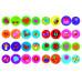 Перші розмальовки з кольоровим контуром для малюків. Чарівні феї. 32 великі наліпки Kr-422-1