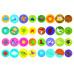 Перші розмальовки з кольоровим контуром для малюків. Динозаврики. 32 великі наліпки Kr-424-5