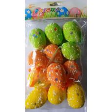 Пасхальный декор. Яйца из пенопласта. НАБОР 12 шт KI-203494