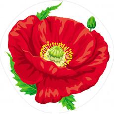 """Медаль, єлемент для украшения малый """"Мак""""  Sp-18.1163y"""
