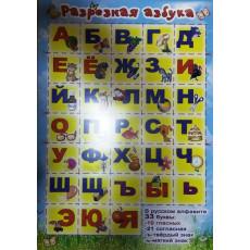 """Плакат """"Разрезная азбука"""" Ed-pl-0009r"""