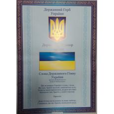 """Плакат """"Державні символи України"""" NLO-pl-01"""