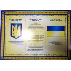 """Плакат """"Державні символи України"""" NLO-pl-06"""