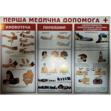 "Плакат ""Перша медична допомога"" SP-P-167y"