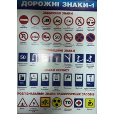 """Плакат """"Дорожні знаки-1"""" SP-P-032y"""