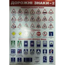 """Плакат """"Дорожні знаки -2"""" SP-P-033y"""