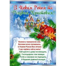 Плакат «З Новим Роком!» Sp-P-206