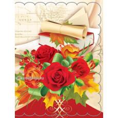 Набор 10 шт двойных открыток для букетов (букетница) Ed-07-00-114