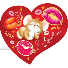 Открытка «Love» 14-Ed-27-00-244y
