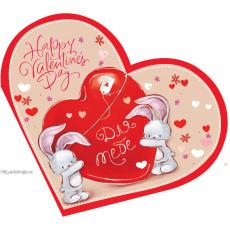 Открытка «Happy Valentines Day!» 14-Ed-26-05-86y