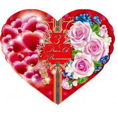 Открытка гигант уменьшенный «З Днем Святого Валентина!» 14-Ex-MG-03y