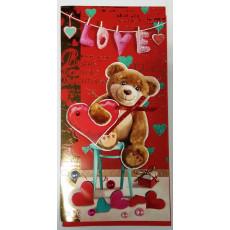 """Открытка ручной работы """"Love!"""" 14-Fr-P-1030"""